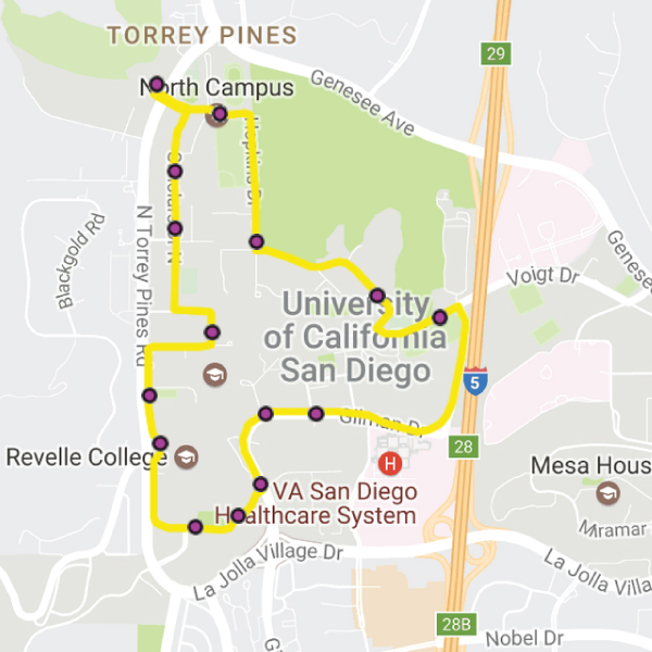 Campus Loop map